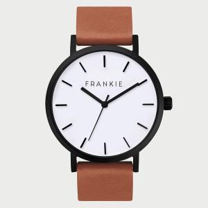 Matte Black / White / Tan Leather