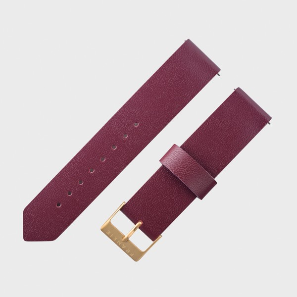 frankie antique ruby leather strap