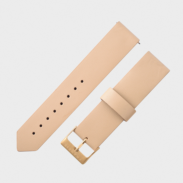 latte leather strap