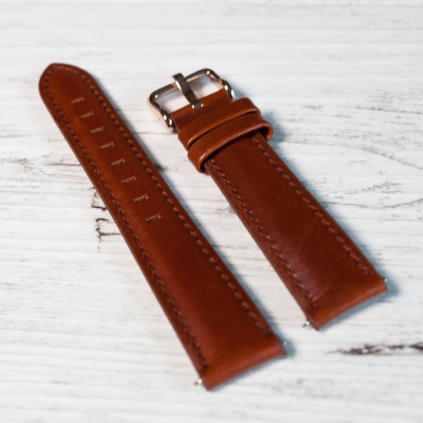 tan leather iconic strap