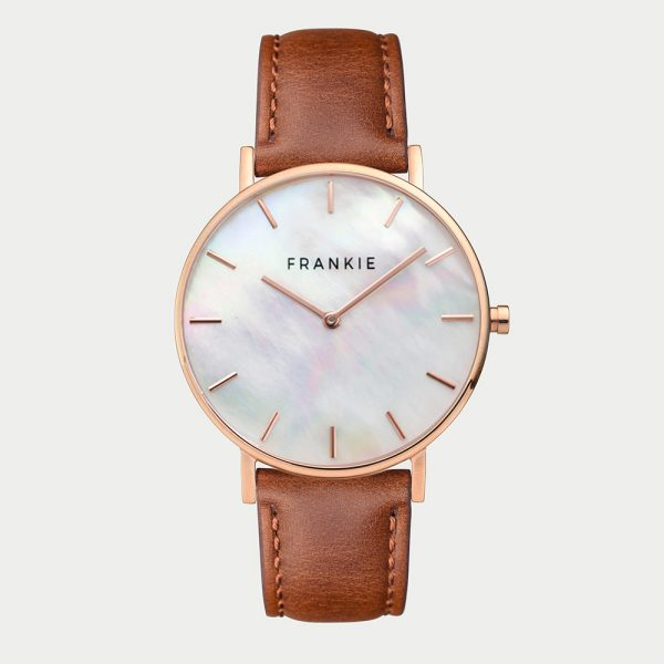 Frankie Seashell / Brown Leather